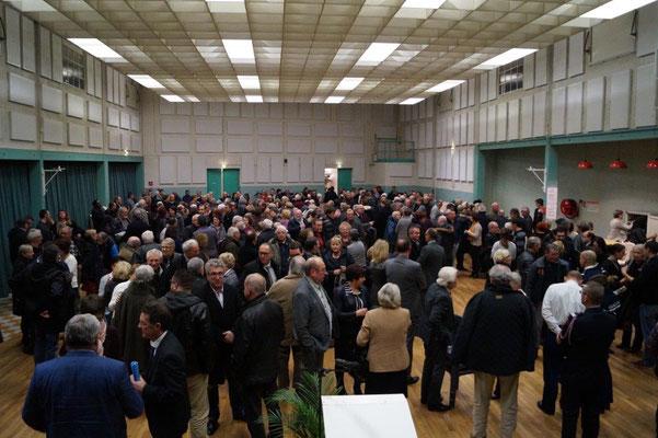 La salle des fêtes de Dormans était archicomble lors de cette cérémonie des vœux 2018.