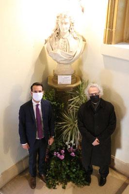 De gauche à droite : Sébastien Eugène et Amin Maalouf.