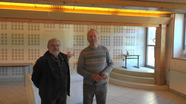 de gauche à droite : René Béchard, conciliateur de justice et Eric Assier, maire de Condé-en-Brie.