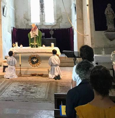 Pargny-la-Dhuys. Messe anticipée du samedi 31 août 2019.