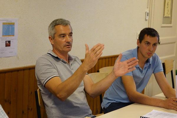 De gauche à droite : Olivier Coubronne et Alexandre Gobert.