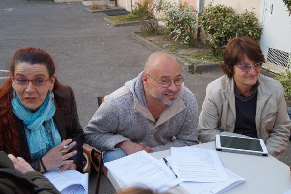 Au centre : Frédéric Deguilhem, le metteur en scène du spectacle 2017.