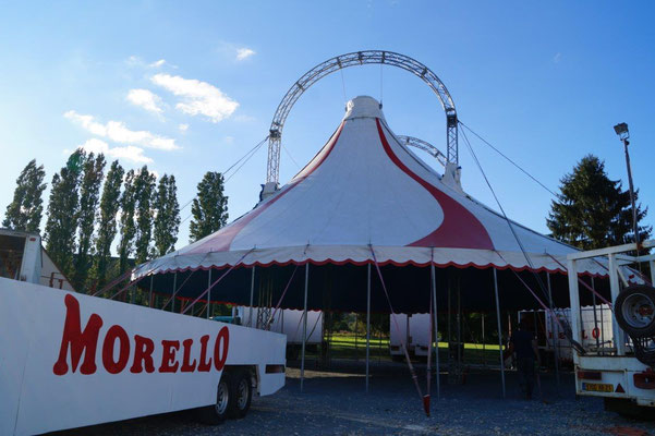 Le parc de la mairie accueille le cirque Morello pour 2 jours.