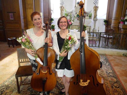 De gauche à droite : Camille Ledocq et Chloé Dagonet