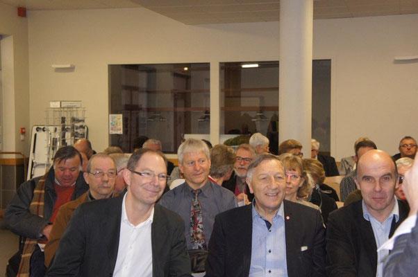 De gauche à droite : Yves Coquel, président de TFBCO, Jacques Krabal, député-maire de Château-Thierry et Etienne Dhuicq, maire de Montmirail.