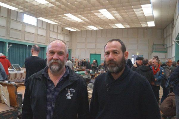 De gauche à droite : Didier Blanchard et Patrice Losson, respectivement secrétaire et président de l'association dormaniste Les Poilus de Champagne.
