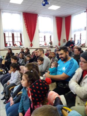 Enfants et parents ont répondu nombreux à l'invitation du comité des fêtes...