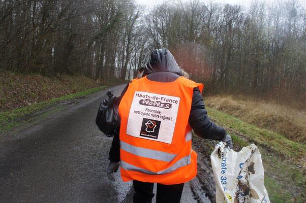 En2017, à La Chapelle-Monthodon, commune de Vallées-en-Champagne, une poignée de bénévoles a collecté près de 150kg de déchets...