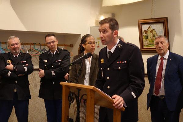 Le lieutenant Roamin Freytag développe les missions de la COB.
