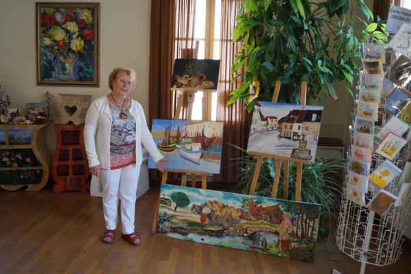 Chantal Federspiel expose ses toiles jusqu'au 15 octobre 2018.