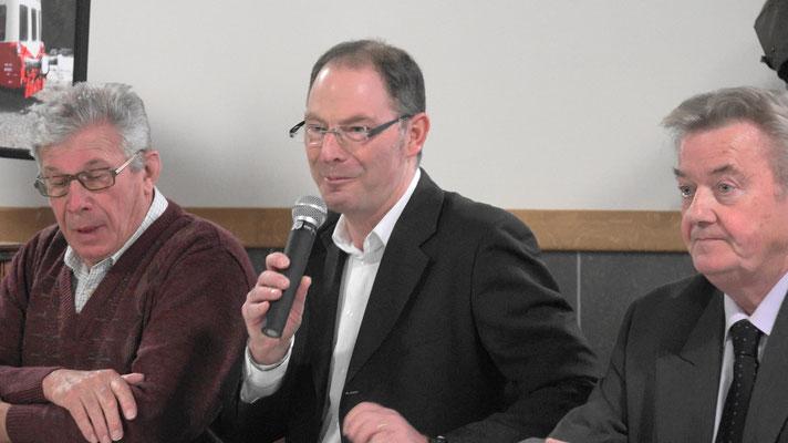 De gauche à droite : Daniel Coluche, Yves Coquel et Dominique Platel.