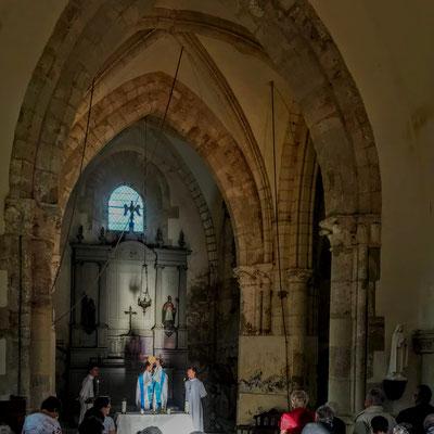 Chartèves. Messe de l'Assomption du jeudi 15 août 2019.
