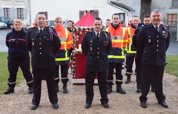 Les sapeurs-pompiers du Centre de Secours de Saint-Eugène.