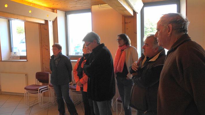 6 élus de l'ex canton de Condé-en-Brie ont assisté au pot de départ.