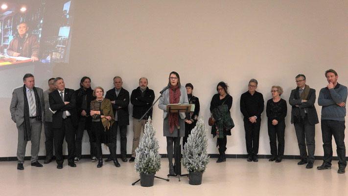 Anne Maricot a présenté ses voeux dans la salle Culturelle.