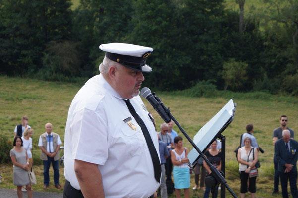 La cérémonie du souvenir est orchestrée par Christophe Delannoy.