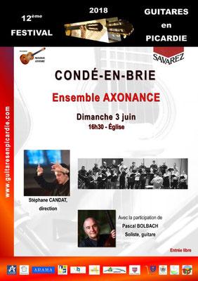 Dimanche 3 juin : Concert Festival Guitares en Picardie.