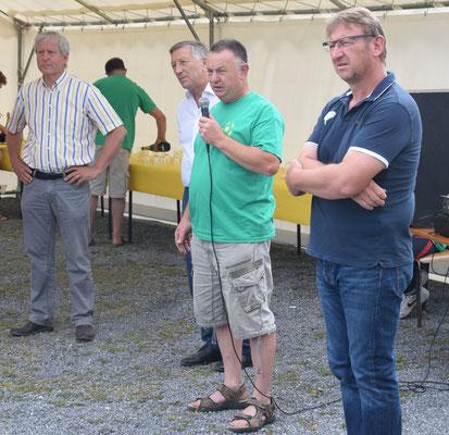 De gauche à droite : Eric Assier, Jacques Krabal, Georges Serres et Eric Mangin.