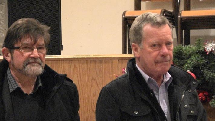 de gauche à droite : Didier Simon, maire de Monthurel et son collègue Jean-Marie Houdant