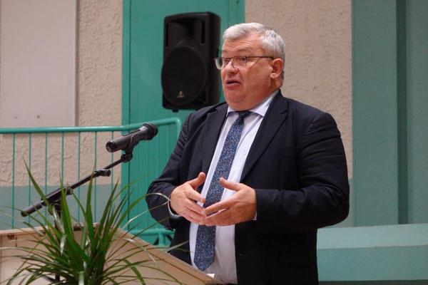 Christian Bruyen, conseiller municipal de Dormans, président de la Commuauté de Communes des Paysages de la Champagne et président du Conseil départemental de la Marne.
