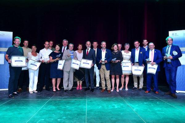 L'ensemble des lauréats du Prix Pierre Cheval de l'Embellissement 2019.