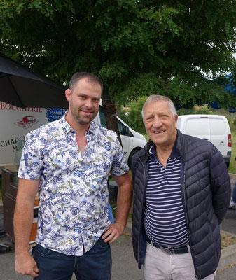 """De gauche à droite : Jordane Beauchard, maire du """"petit"""" village de Celles-lès-Condé et le député de l'Aisne Jacques Krabal."""