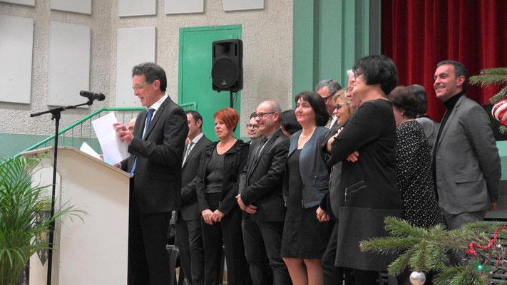 Michel Courteaux, maire de Dormans, a présenté ses vœux entouré de l'équipe municipale.