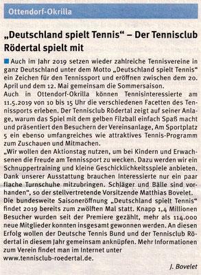 """Artikel aus dem """"Mitteilungsblatt"""" vom Mai 2019"""