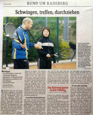 """Artikel aus der """"Sächsischen Zeitung"""" aus dem Jahre 2010"""