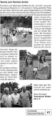 "Artikel aus dem ""Amtsblatt Ottendorf-Okrilla"" vom August 2011"