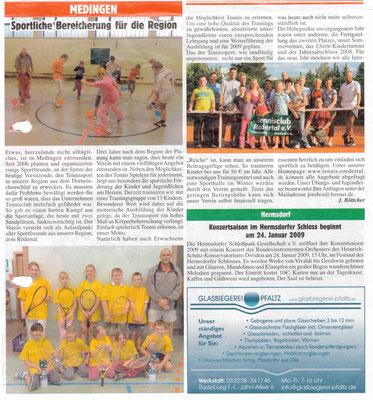 """Artikel aus dem """"Radeburger Anzeiger"""" vom Januar 2009"""