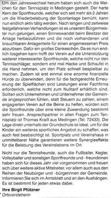 """Auszug aus einem Artikel des """"Amtsblatt Ottendorf-Okrilla"""" vom Februar 2007"""