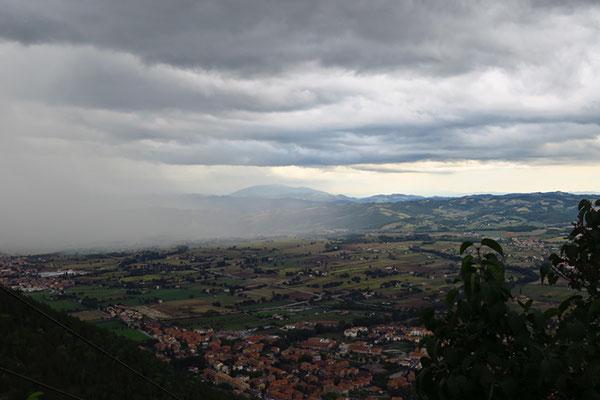 Vista dalla seggiovia di Gubbio