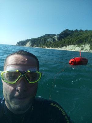 4,3km di nuoto dalla spiaggia Urbani fino alle due Sorelle...ero morto!