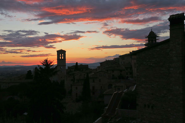 Tramonto ad Assisi