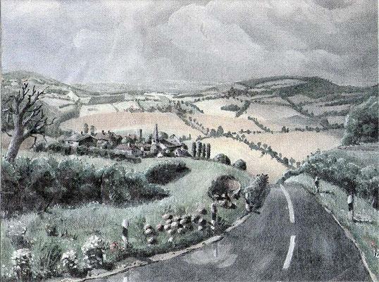 Landschaft, 1992, 30 x 20 cm, Öl auf Leinwand
