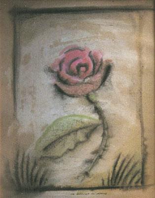 Die Schönheit des Alterns, 1997, 35 x 40 cm, Tempera, Tusche auf Karton