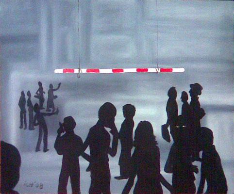 Grenzverkehr, 2008, 70 x 50 cm, Öl auf Leinwand