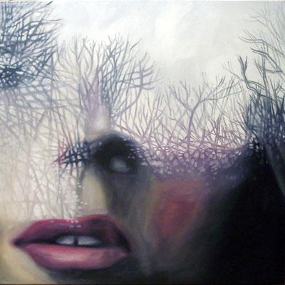 P 8, 2007, 80 x 80 cm, Öl auf Leinwand