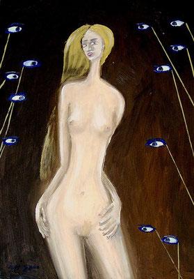 Stilaugen, 2000, 48 x 68 cm, Öl auf Hartfaser