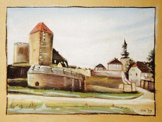 Querfurt, 1999, 42 x 30 cm, Kreide, Kohle auf Karton