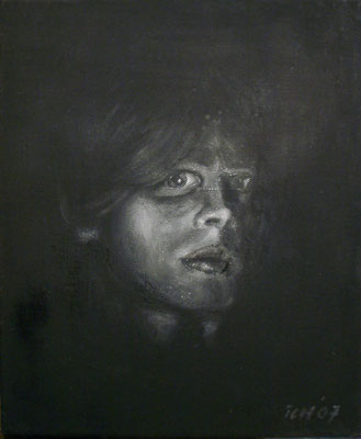 Gesicht, 2007, 30 x 40 cm, Öl auf Leinwand