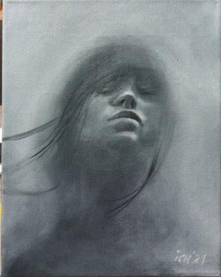 dreaming, 2021, 24 x 30 cm, Öl auf Leinwand