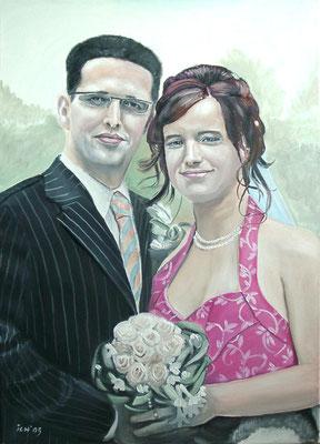 Hochzeit, 2005, 50 x 70 cm, Öl auf Leinwand