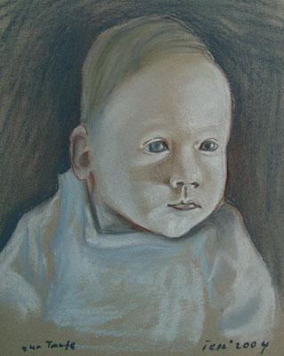 zur Taufe, 2004, 30 x 42 cm, Kreide auf Karton