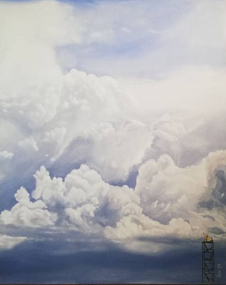 Der Wolkenmaler, 2019, 80 x 100 cm, Öl auf Leinwand