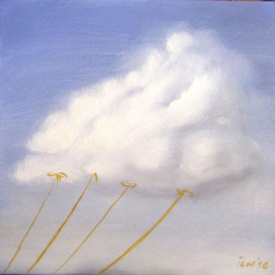 vorbeigezogen, 2007, 40 x 30 cm, Öl auf Leinwnad