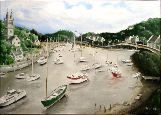 Ebbe in Doelan sur mer, 2004, 70 x 50 cm, Öl auf Leinwand