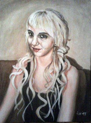Portrait, 2001, 40 x 50 cm, Öl auf Leinwand