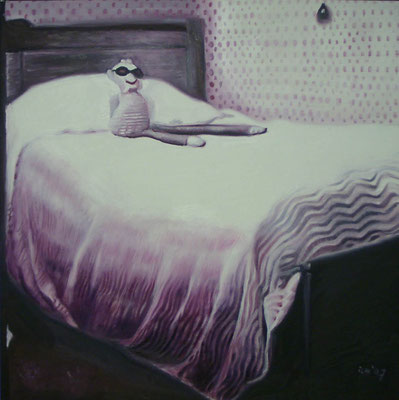 P 10, 2007, 80 x 80 cm, Öl auf Leinwand